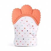 TOOGOO Orange baby products silicone molars gloves baby molars gloves voice toothpaste gloves
