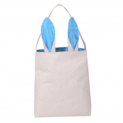 Hunpta Cotton linen Gift Bag Easter Rabbit ears Bag Tote Handbag Wristlets Clutches Bag