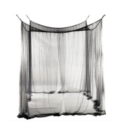 Black oversized four side door mosquito nets bedding bed nets, tents , black , 190 * 210 * 240