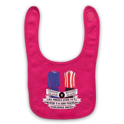 Inspired by Father Ted All Priests Over 75's Indoor 5-A-Side Football Unofficial Baby Bib, Pink