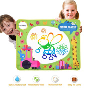 Doodle Drawing Mat - Rainbow Colour Magic Water Painting Mat With 3 Magic Pen, 100cm x 80cm large Doodle Mat, Drawing Painting Writing Educational Toy For Kids, Doodle Drawing Mat For Indoor & Outdoor
