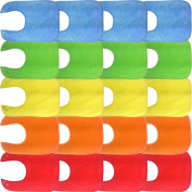 Waterproof Baby Bibs with Snaps, Unisex, Gift Box 20 Pack, Solid Colours