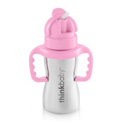 Thinkbaby Thinkster of Ultra Polished Stainless Steel, Pink