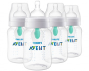 Philips Avent Anti-colic Baby Bottle with AirFree vent 270ml, 4pk, SCF403/44