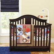 New 7pcs Baby Boy Brown Sport Crib Bedding Set