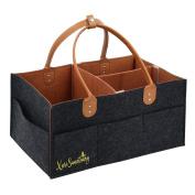 Large Nappy Caddy Baby Organiser | Best Portable Tote Bag for Girl Boy | Car Travel Organiser | Nursery Storage Bin | Baby Shower Gift Basket | Makeup Organiser Caddy