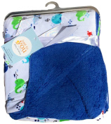 Baby Blankets For Boys, Warm and Cosy, Extra Soft Micro Plush Fleece Blanket, Anti-Pilling, Sherpa Backing