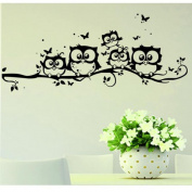 Cartoon Forest Animal Monkey Owls Hedgehog Tree Swing Nursery Wall Stickers Wall Murals DIY Posters Vinyl Removable Art Wall Decals for Kids Girls Room Decoration