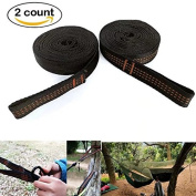 Jahyshow Hammock Straps -Approx.3m Long,230kg Breaking Strength, 18 Adjustable Loops Best Suspension System For Quick & Easy Setup Camping Hammock Tree Accessories with 2 Carabiners