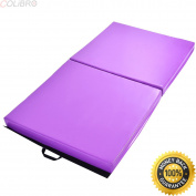 "COLIBROX--6'x 38"" x 10cm Gymnastics Mat Thick Two Folding Panel Fitness Exercise Purple New. best gymnastics folding mats for home. folding mat gymnastics. folding gym mat ikea."