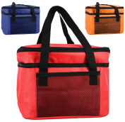 14L Insulated Cool Bag Lunch Box Two Compartments Cooler Picnic Drink Carrier