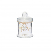 Saveur et Degustation ka2259 Jar Festive 880 ml, Metal, transparent-doré, 13 x 13 x 18.5 cm