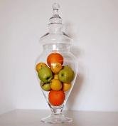 Large Clear Glass Bon bon Sweet Jar & Lid 56 x 13 cm Apothecary Jar Glory