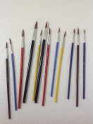 12 COLOUR POINTED ARTIST BRUSH SET ART PAINT BRUSHES THIN & THICK PRECISE QUALITY BRUSHES