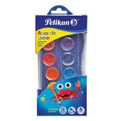 Pelikan Washable Watercolour Paint & Brush Set, 12 Assorted Colours