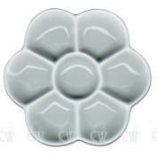 Curtisward Artists Small Classic White Porcelain Daisy Palette