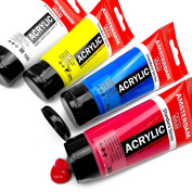 "Royal Talens - ""Primary"" Set of Amsterdam Standard Series Paints - 4 x 75ml Tubes of Acrylic"