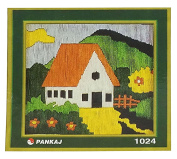 Scenery Small Stitch Thread Embroidery Design Quick Stitch Kit For Beginner