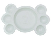 AACEE 7 Well Watercolour Paint Tray Mixing Palette White Dish