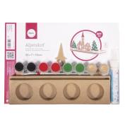 RAYHER 67198000 DIY Christmas Alpine Village Papier Mache, Various Colours, 30 x 21 x 2.9 cm