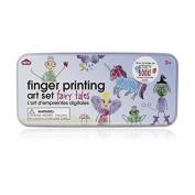 Fingerprinting Tins - Fairytales - , art kit, craft kit, finger painting, painting gifts for children, stocking fillers for girls,