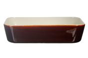 Menastyl Cooking 8021525 menastyl-8021525-plat Size 24,5x17 cm, Chocolate Brown, Ceramic, 25 x 18.4 x 6.3 cm