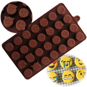 Yezelend Chocolate Mould Emoji Mould Silicone Jelly Candy Cake Sugar Silicone Moulds DIY Funny