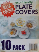 Pack of 10 Reusable/Disposable Elasticated Maxa Covers Food Covers - Ideal For Leftovers
