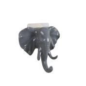 Winkey Hanger Hooks,Elephant Head Self Adhesive Wall Door Hook Hanger Bag Keys Sticky Holder