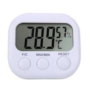 DIKEWANG Portable Multifunction Indoor Digital LCD Indoor Thermometer Hygrometer Gauge Clock Temperature Humidity Met,Ensure Proper Indoor Humidity Control Has Important Skin, Allergen Health Benefits