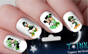 Irish St. Patricks Day Disney Nail Decals Mickey Mouse Minnie Mouse nail art design set assorted ti7