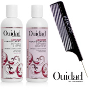 Ouidad ADVANCED CLIMATE CONTROL Defrizzing Shampoo & Conditioner DUO Set (with Sleek Steel Pin Tail Comb)