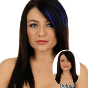 Womens Hair Piece Wigs,Colourful Stylish Girls Pretty Clip On Clip In Front Hair Bang Fringe Hair Extension Piece Thin