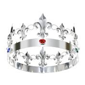 DcZeRong King Queen Full Tiara Crowns Adult Women Men Birthday Prom Queen King Crystal Metal Crown