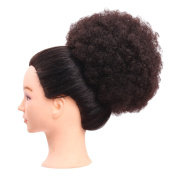 BeautyGal Fluffy Afro Curly Chignons Wig Kinky Drawstring Ponytail Synthetic Wigs Hair Bun Extension