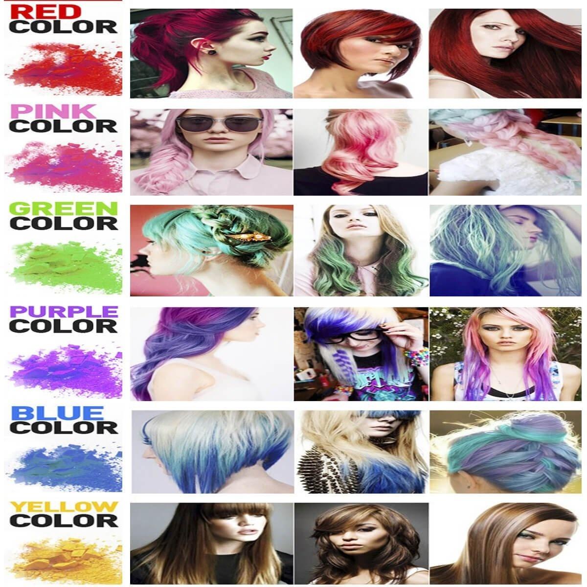 Hair Chalk Aolvo Temporary Hair Dye Hair Chalk Makers Bites Powder