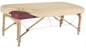 Therapist's Choice Durable Fitted PU Vinyl leather Protection Cover for Massage Tables (Creme