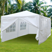 Yaheetech Large Heavy Duty Party Tent 3m x 6.1m for Outdoor Wedding Event Dancing Party Gazebo Canopy with 4 Pcs Removable Side-Walls & 2 Doors White