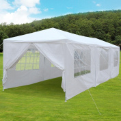 Yaheetech Large Heavy Duty Party Tent 3m x 9.1m for Outdoor Wedding Event Dancing Party Gazebo Canopy with 8 Pcs Removable Side-Walls White