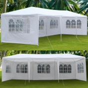 Yaheetech Large Heavy Duty Party Tent 3m x 9.1m for Outdoor Wedding Event Dancing Party Gazebo Canopy with 5 Pcs Removable Side-Walls White