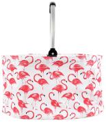 DEI 46cm Flamingo Pattern Market Basket