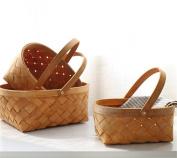 Easter Vintage Style Woodchip Swing Handle Basket Small Storage Basket Picnic Basket