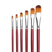 Filbert Art Paint Brushes, 6 pcs Bi-colour Nylon Paint Brushes Artist Paint Supplies for Art Acrylic Oil Painting Watercolour