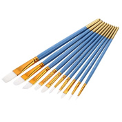 10Pcs/Set Different Size Paint Brush Pens for Artist Watercolour Oil Painting