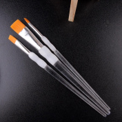 3Pcs/Set Artist Painting Brush Nylon Hair Watercolour Acrylic Painting Brushes - Clear