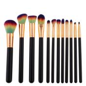 Make Up Brushes,Sansee 12pcs Pro Makeup Brushes Set Foundation Powder Eyeshadow Eyeliner Lip Brush Beauty Brush Kit