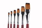 Paint Brushes 6 Pcs Art Professional Paintbrush Set for Acrylics Oil Watercolour Gouache Painting.