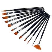 Gemini_mall® Paint Brush Set Acrylic Xpassion 12pcs Professional Paint Brushes Artist for Watercolour Oil Acrylic Painting