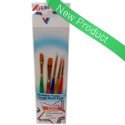 Create 5 Plastic Handle Student Brush Set