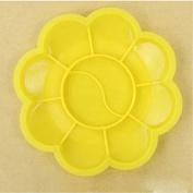 RICISUNG 8.5cm Yellow Plum Children's palette brushes feet plum blossom plastic arts watercolour plate colour plate paint box